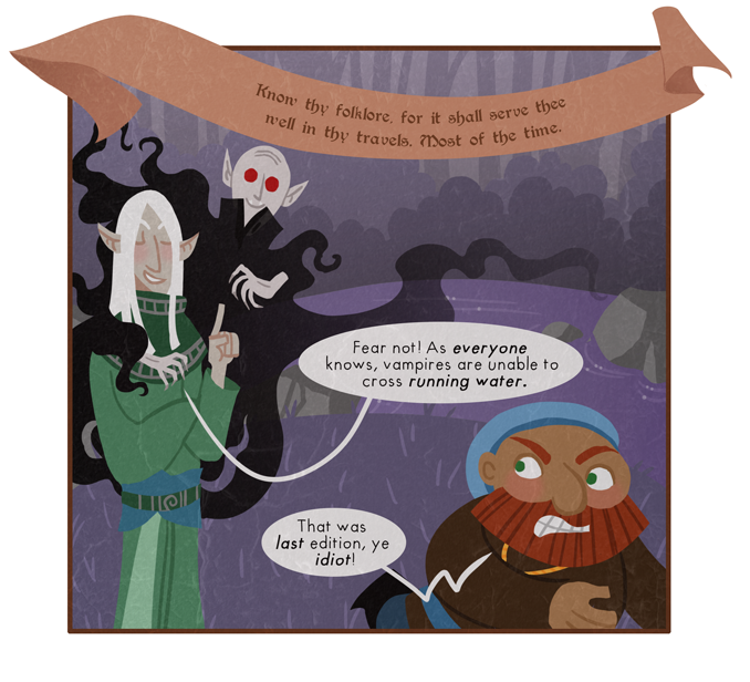 So the bad news is that Wizard has been turned into an evil bloodsucking abomination. The good news is that he still has his goth outfit from that necromancy phase.