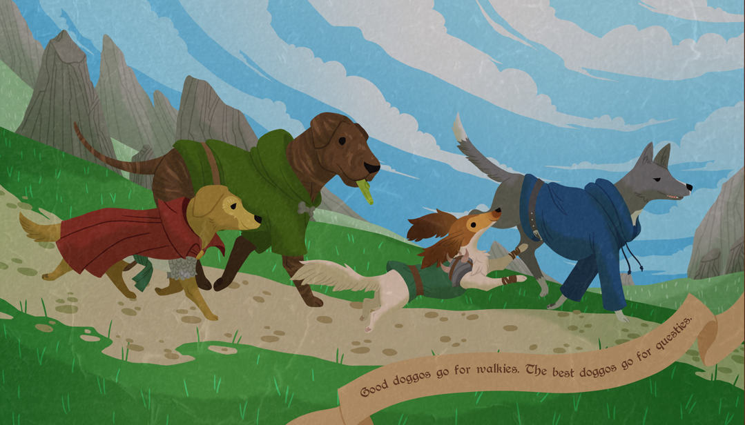 Canine adventurers excel at blazing new trails and marking new territory.