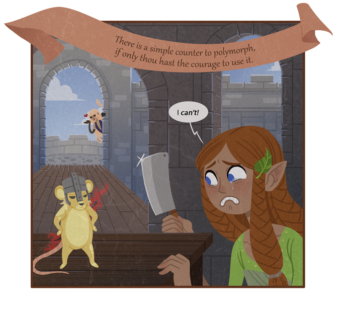 Never forget, D&D players: You're only a handful of polymorphs away from playing Mouse Guard.